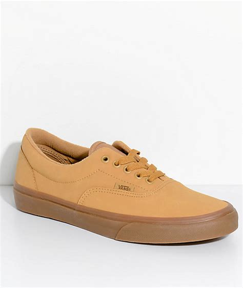 vans era gum vans era vansbuck mono light gum skate shoes zumiez