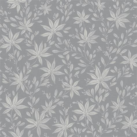grey wallpaper with leaves maple leaf by eco wallpaper grey wallpaper direct