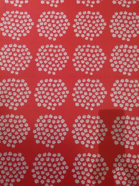 marimekko upholstery marimekko vintage puketti fabric cotton red and white annika
