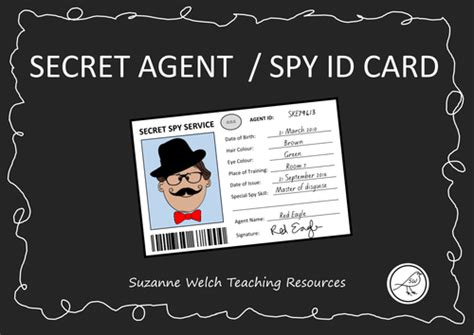 secret id card template id secret id template by swelch resources