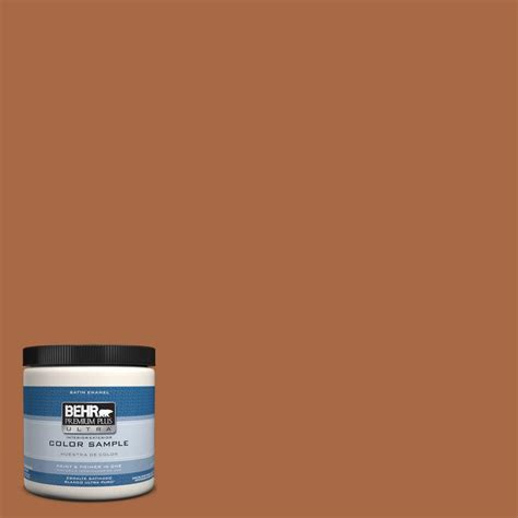 behr premium plus ultra 8 oz ppu3 16 maple glaze interior exterior satin enamel paint sle
