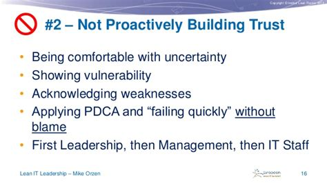 Being Comfortable With Uncertainty by Lean It Leadership By Mike Orzen Lean It Summit 2013
