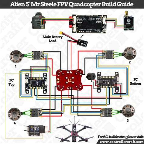 wiring diagram for a quadcopter inspiration qav zmr 250