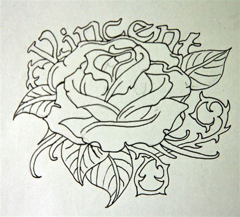 simple rose tattoo outline rose tattoo