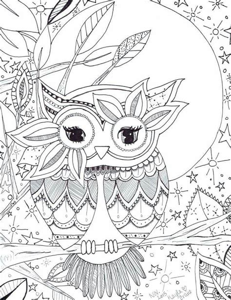 owl mandala coloring pages for adults owl coloring page pinteres