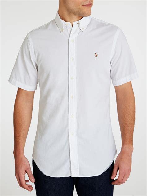 Kemeja Dress White polo ralph chambray sleeve shirt in white for