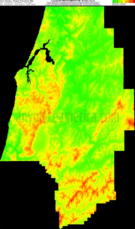 map of oregon elevation free coos county oregon topo maps elevations