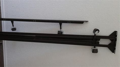 queen size cast iron bed frame  casters easy set