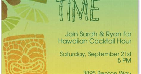 Tropical Summer 23773 tiki evite tiki cocktail invitation fonts and cocktails