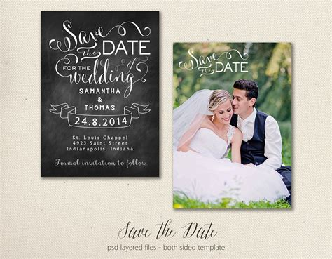 Save The Date Card Template 5x7 Graphic Objects Creative Market Save The Date Cards Templates 3