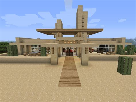 Minecraft Bedroom Ideas by Modern Desert Home Minecraft Project