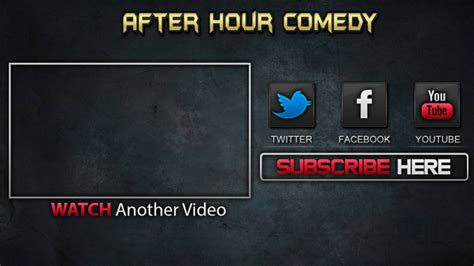 outro template maker make a custom outro screen for your channel
