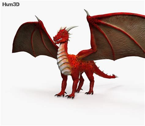 3d hd model gothic dragon european hd 3d model hum3d