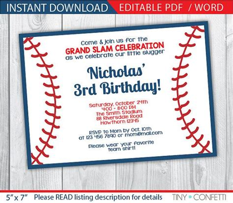 Baseball Card Invitation Template by The 25 Best Baseball Invitations Ideas On