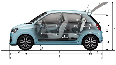 dimensions twingo v 233 hicules particuliers v 233 hicules
