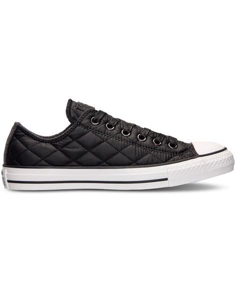 Sepatu Converse Black White Sneakers Casual converse unisex chuck ox quilted casual sneakers from finish line in black lyst
