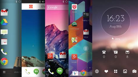 best launcher android five of the best android launchers android tablet forum
