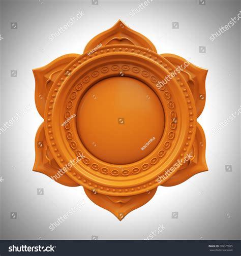 splenic chakra orange svadisthana spleen chakra base 3d abstract symbol