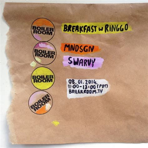 Jaket Ringgo mndsgn on boiler room breakfast with ringgo stones throw records