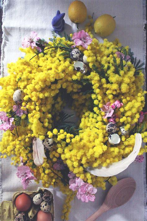 ghirlande fiori ghirlanda di fiori per la tavola di pasqua ilaria