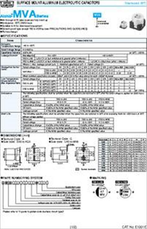 capacitor 4 7 uf datasheet electrolytic capacitor data sheet 28 images 105tta350m 4411320 pdf datasheet ic on line