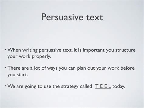 Teel Essay Writing by Teel Essay Structure