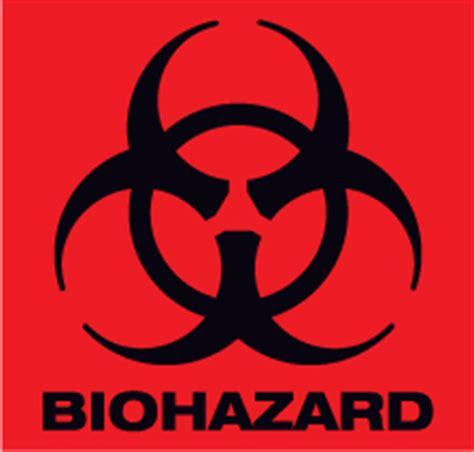 printable biohazard label red biohazard symbol clipart best