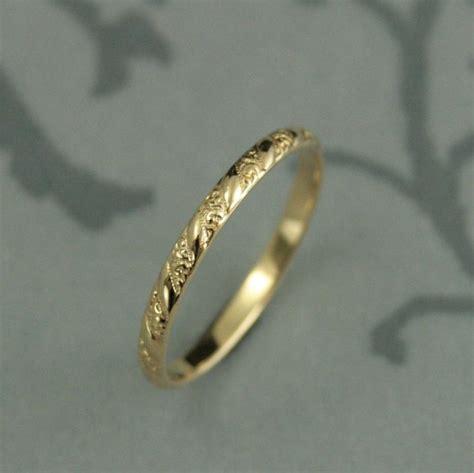 pattern gold wedding ring thin yellow gold band versailles pattern band women s