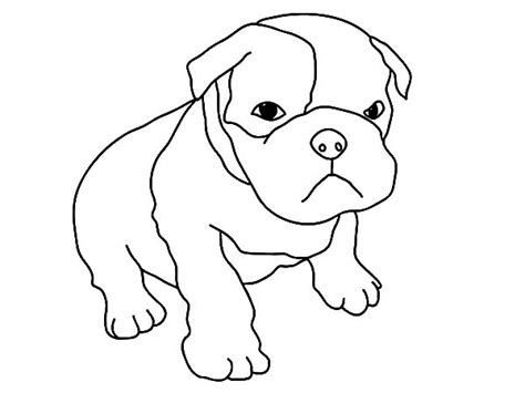 a baby dog coloring pages