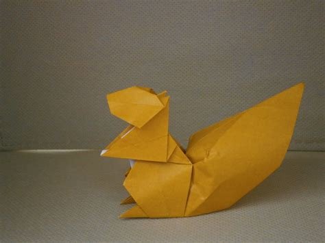 Origami Squirrel - katakoto origami rabbit and squirrel from quot works of hideo