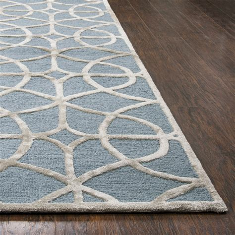Wool Runner Rugs Accented Trellis Wool Runner Rug In Ivory Silver 2 6 Quot X 8