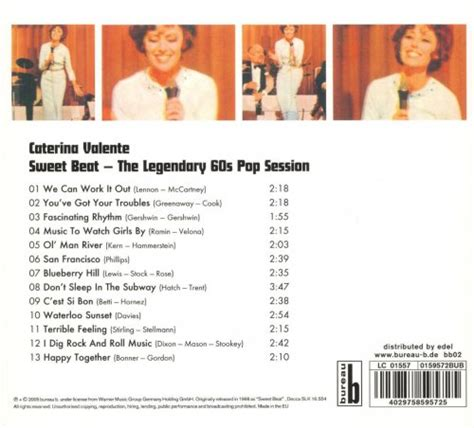 caterina valente blueberry hill caterina valente sweet beat the legendary 60s pop