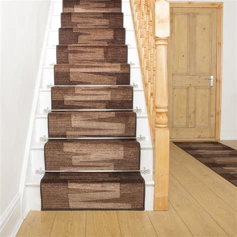 modern stair runners veneto brown stair carpet runner for narrow staircase