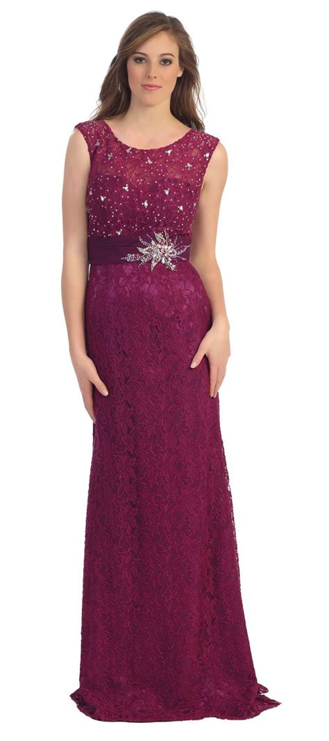 Longdress Magenta modest formal lace dress magenta cap sleeves illusion neck 249 99 formal gowns