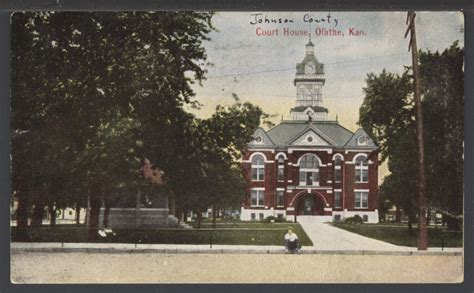 Johnson County Kansas Court Records Courthouse Olathe Kansas Kansas Memory Kansas