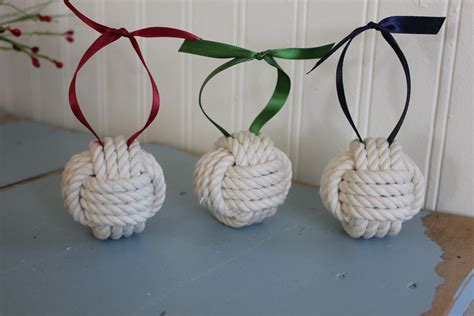 nautical christmas set of 3 ornaments shabby cottage decor
