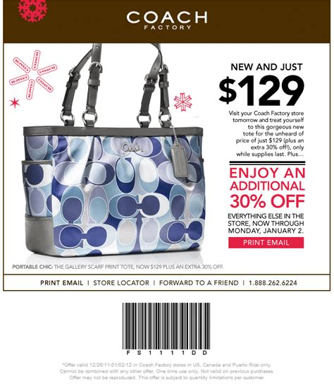 printable coupons for coach outlet coach outlet printable coupon through 1 2 12
