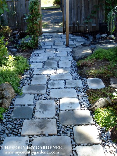 flagstones and river rock garden path for the home