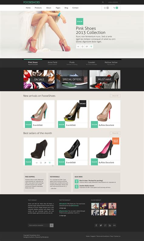 classy ecommerce psd website template download download psd