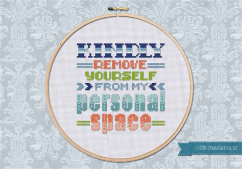 pattern quote kindly remove yourself quote digital cross stitch pattern