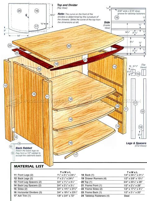 bedside table woodworking plans bedside table plans woodarchivist