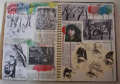 artist book layout sketchbook pages research and observational drawing ideas