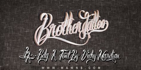 brother tattoo font 1001 free fonts