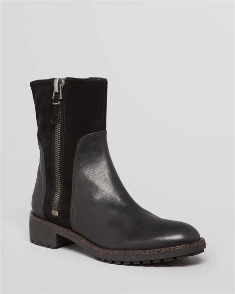 via spiga boots eartha flat in black lyst