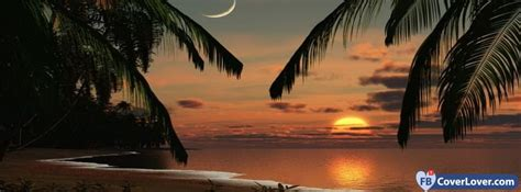sunset beach romantic nature  landscape facebook covers photo