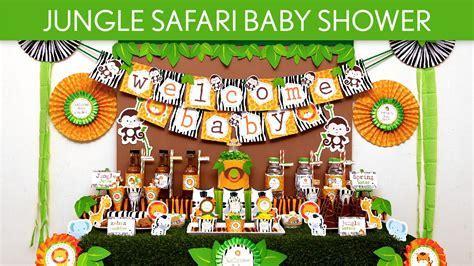 Jungle Safari Baby Shower Party Ideas // Jungle Safari   S50   YouTube