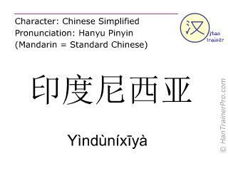 Applied Mandarin Infonesian Inglish translation of 印度尼西亚 yindunixiya y 236 nd 249 n 237 xīy 224 indonesia in