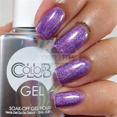 color club holographic color club halo hues holographic gel chickettes