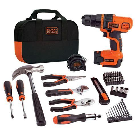 power tool drill kit black decker drills 12 volt lithium
