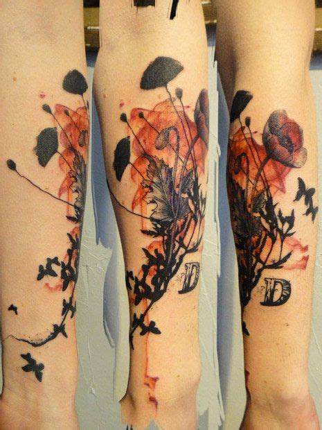 abstract flower tattoos flowers by xoil abstract flower tattoos